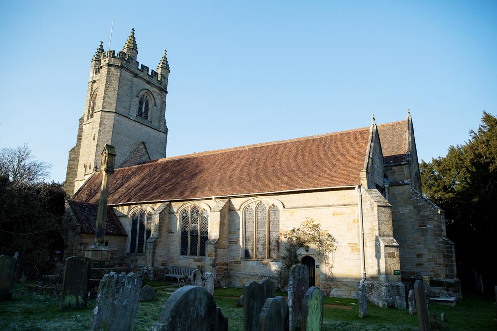 chiddingstone church - winter wedding by Helen England Photography, Kent