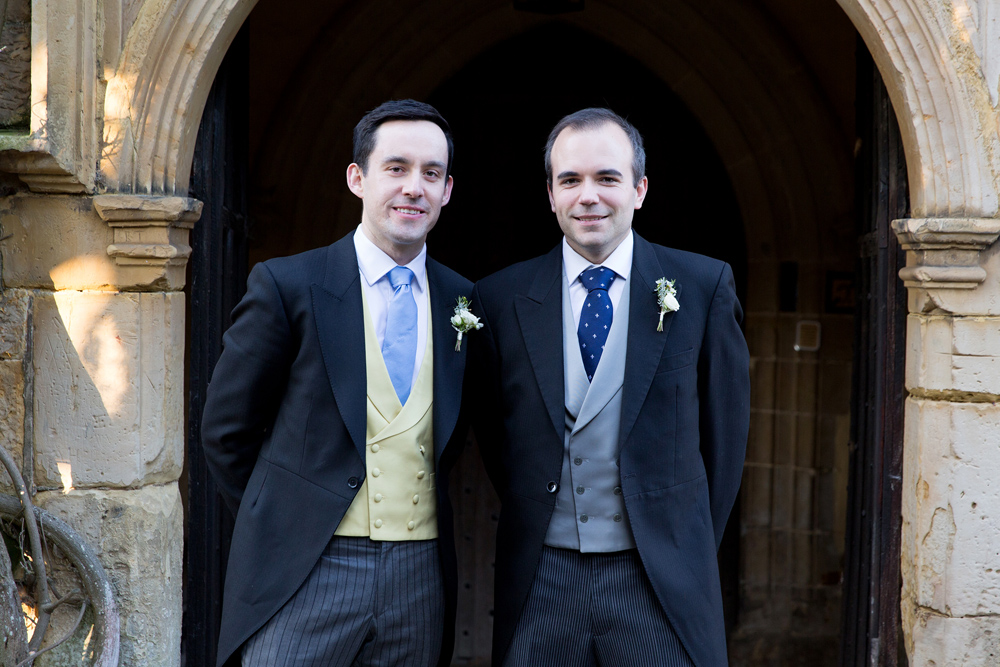 groomsmen - winter wedding at Hoath House by Helen England Photography, Kent