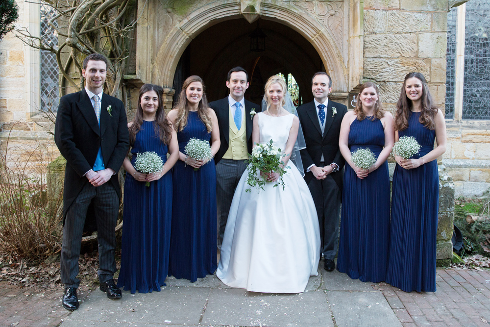 Chiddingstone Church - winter wedding at Hoath House by Helen England Photography, Kent