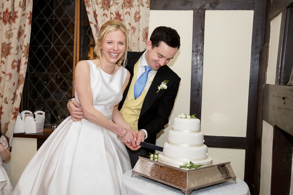 wedding cake - winter wedding at Hoath House by Helen England Photography, Kent