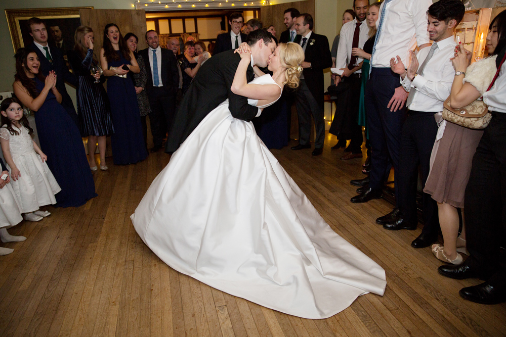 first dance - winter wedding at Hoath House by Helen England Photography, Kent