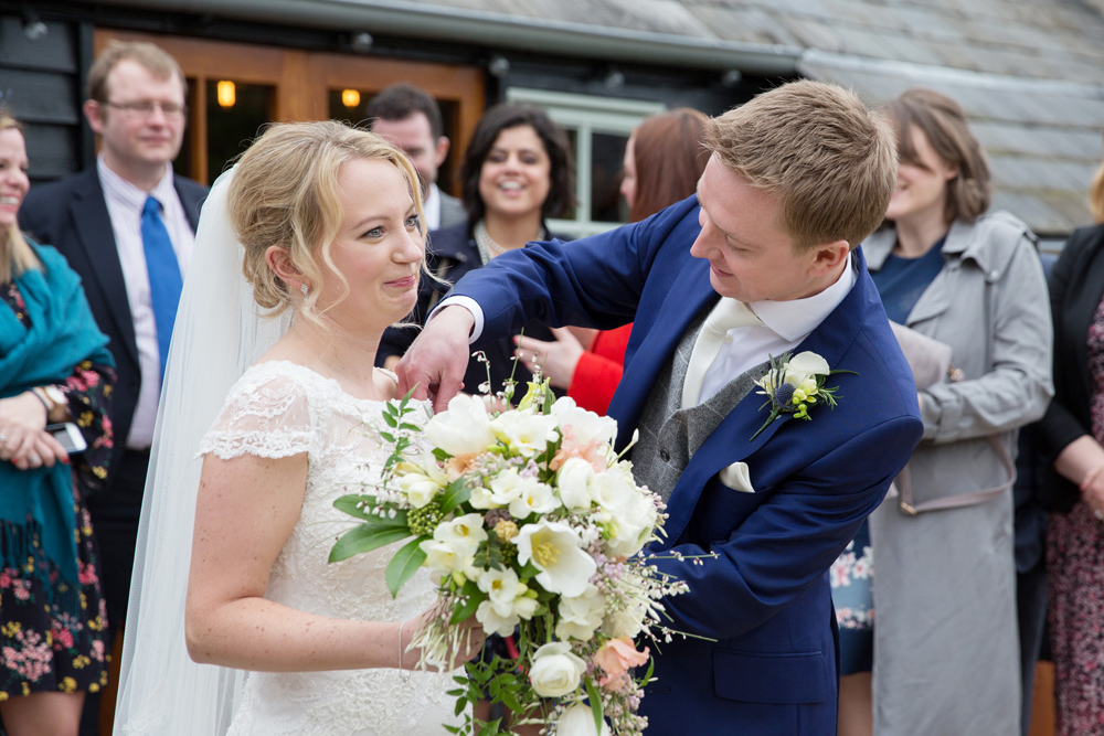winter wedding at Upwaltham Barns by Helen England Photography, Kent