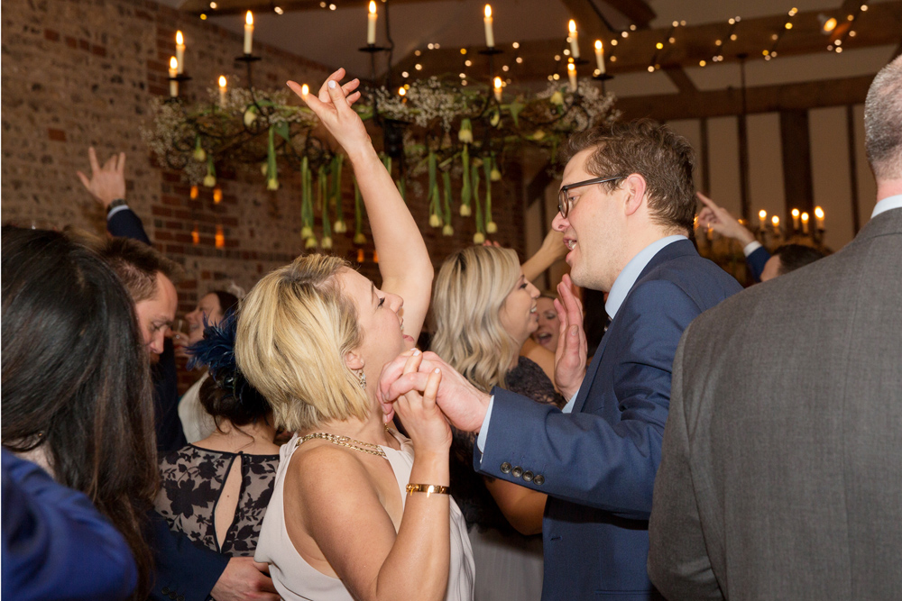 party, winter wedding at Upwaltham Barns by Helen England Photography, Kent