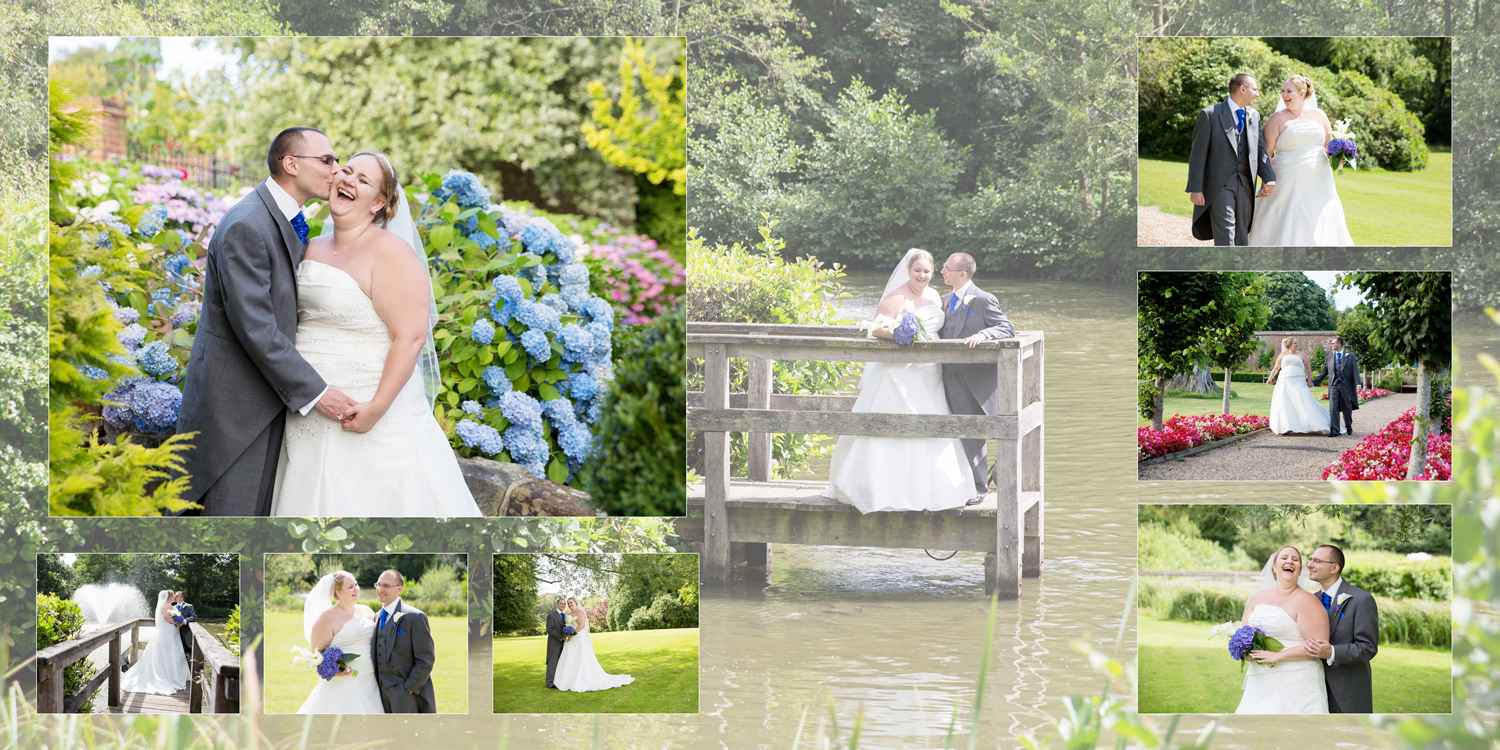 blue wedding at Ashdown Park Hotel by Helen England Photography