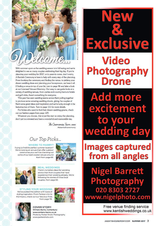 Helen England Photography featured in A Kentish Ceremony magazine at Mountains Country House in Kent