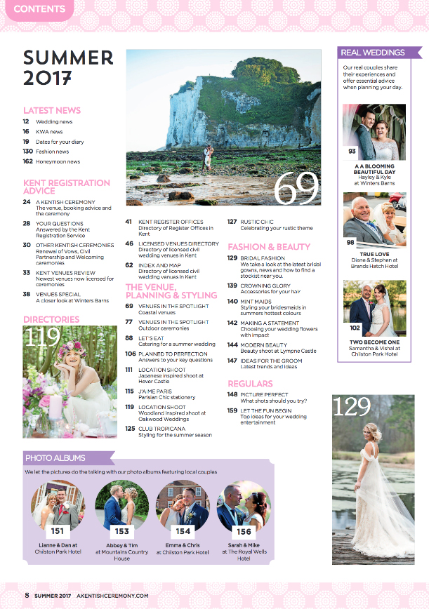 Helen England Photography featured in A Kentish Ceremony magazine