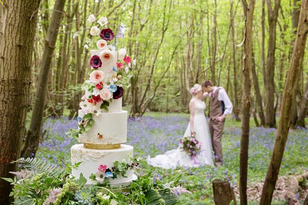 Enchanted Woodland Wonderland Bohemian Wedding Shoot at Oakwood Weddings, Kent, by Helen England Photography