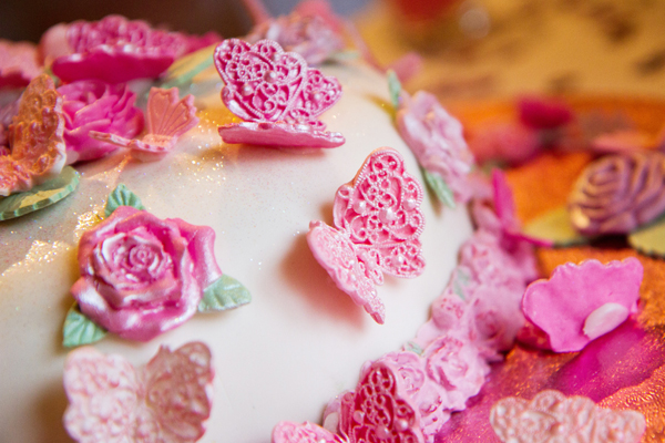 Flowers & Butterflies Wedding Cake, Helen England Photography, Kent, U.K