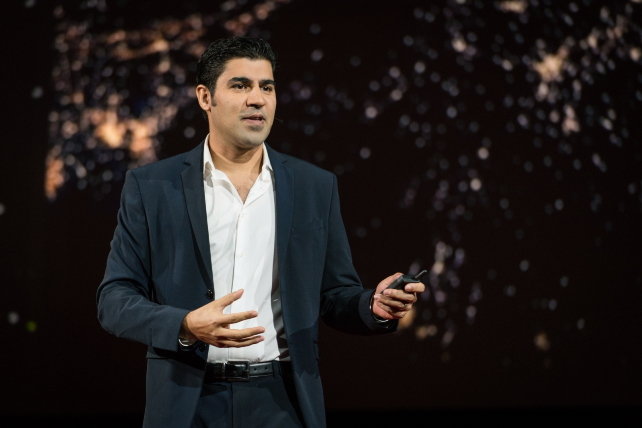 Parag Khanna speaks at TED2016 – Dream, February 15-19, 2016, Vancouver Convention Center, Vancouver, Canada. Photo: Bret Hartman / TED