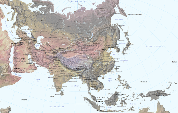 The Future Is Asian Map by Parag Khanna