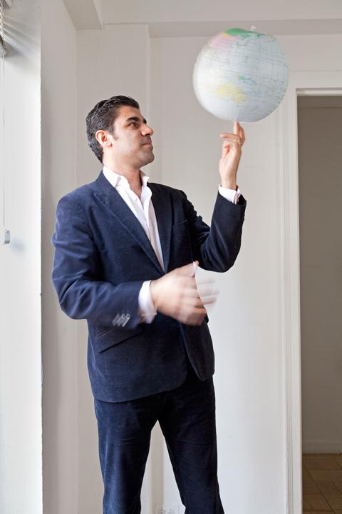 Parag Khanna Author Keynote Speaker spinning globe ball