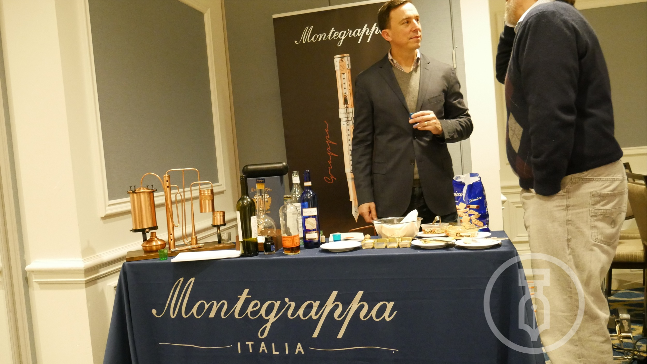 Bryan Hulser of Kenro who brought the entire Grappa setup for everyone to see up close