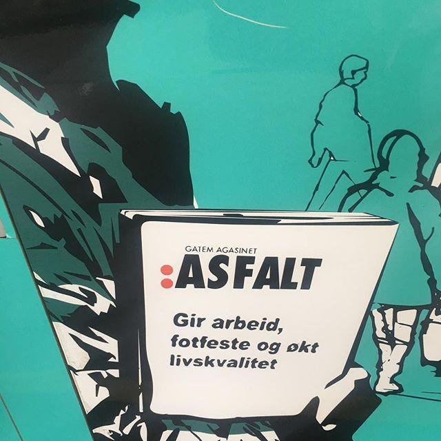 Sånn er det med den saken:) Bra magasin er det også 😁 #gatemagasinetasfalt #asfaltpumpen #blåsenborg ❤️