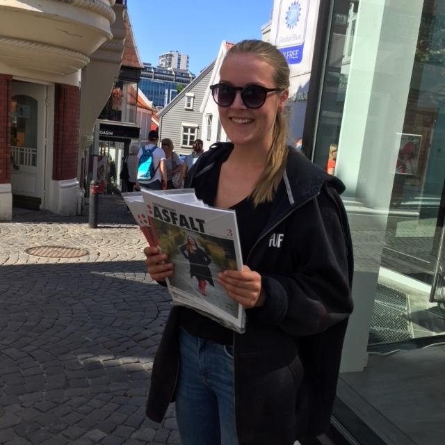 Thea utplassert på Arneageren i Stavanger.