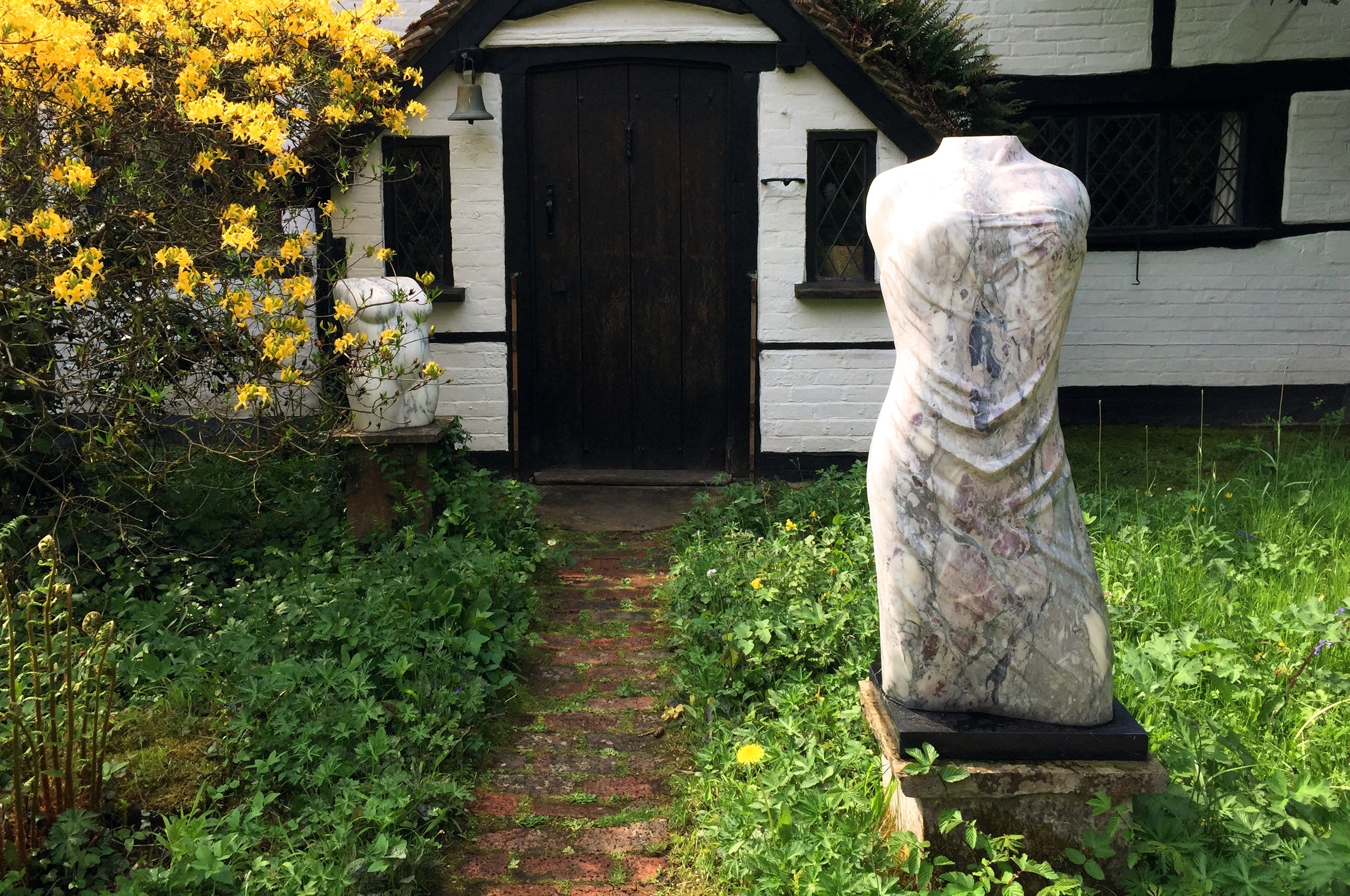 'Kore' and 'Venus' Lucy Unwin with Black & White Cottage.jpg