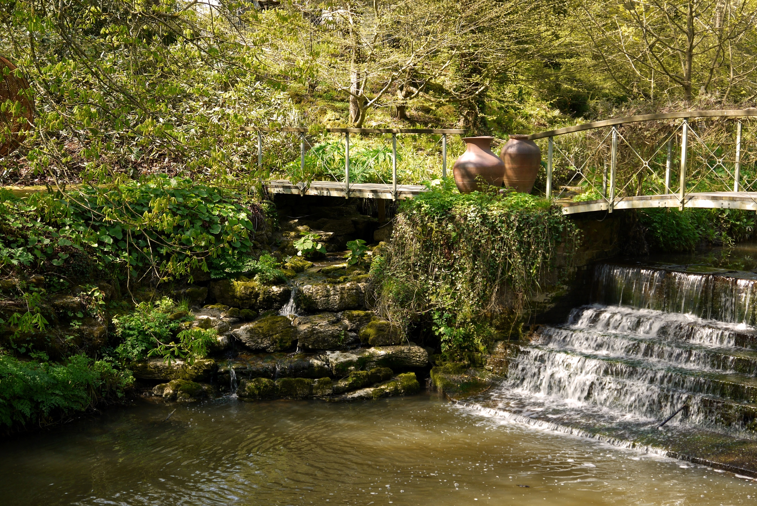 Ray Gridley's 'Urn I & II' by the weir.jpg