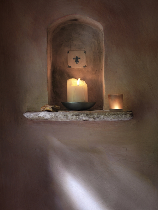 The Summer House - candle in alcove.jpg