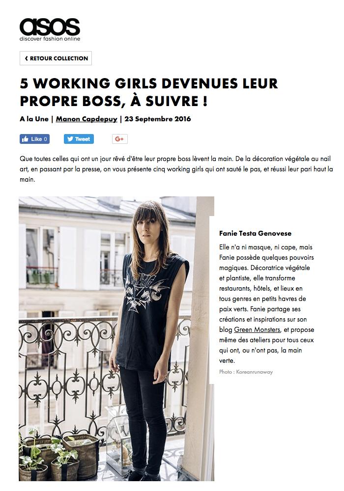 09/16. ASOS. 5 Working girls devenues leur propre boss, à suivre !
