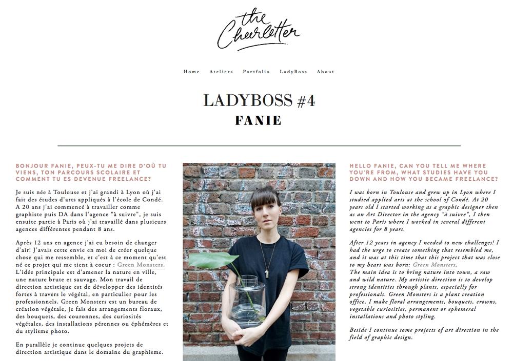 04/17. THE CHEERLETTER. Ladyboss #4