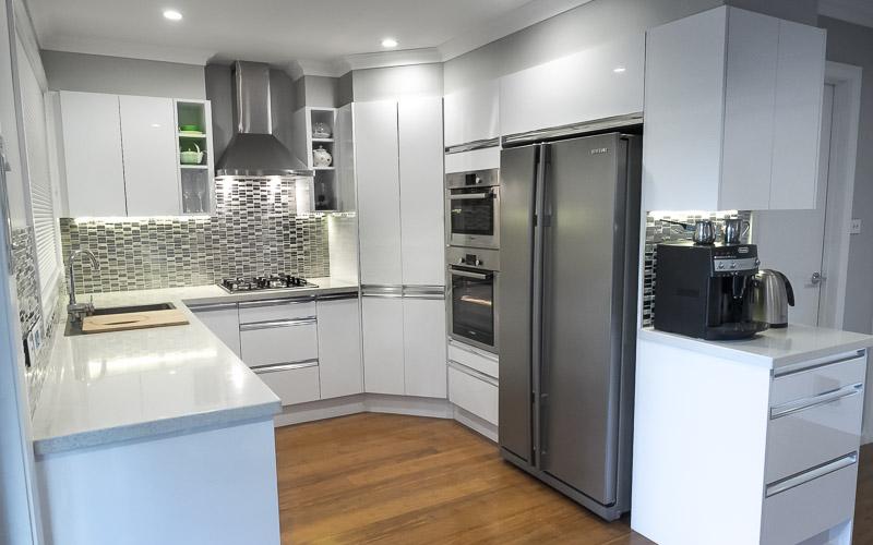 White Concrete Kitchen Benches
