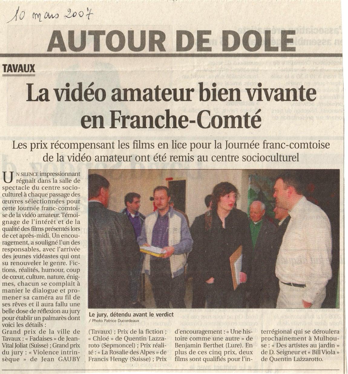 La vidéo amateur bien vivante en Franche-Comté