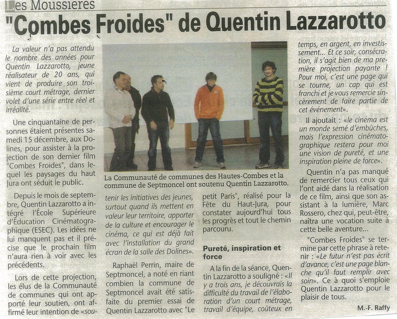 Combes Froides de Quentin Lazzarotto