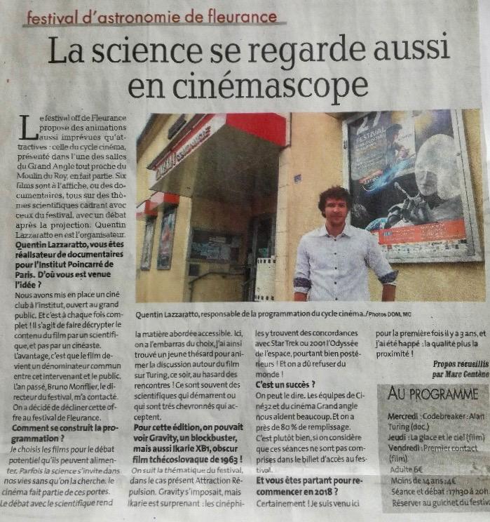 La science se regarde aussi en CinémaScope