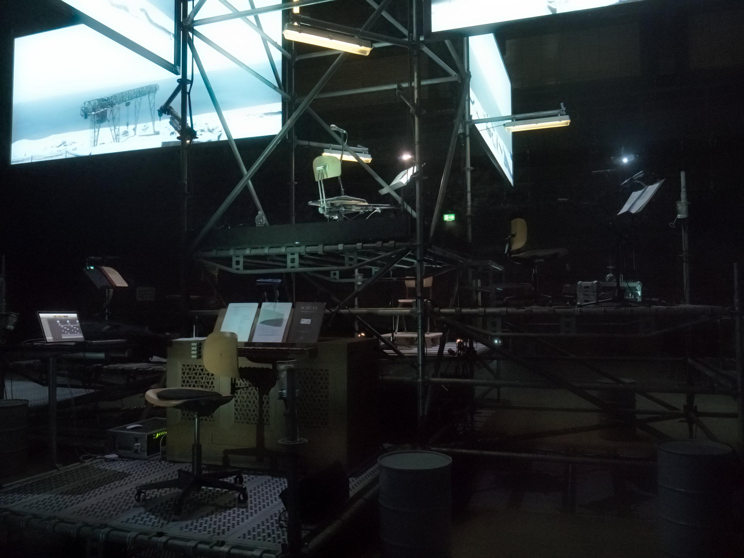 Earth Diver - organ & electronics setup