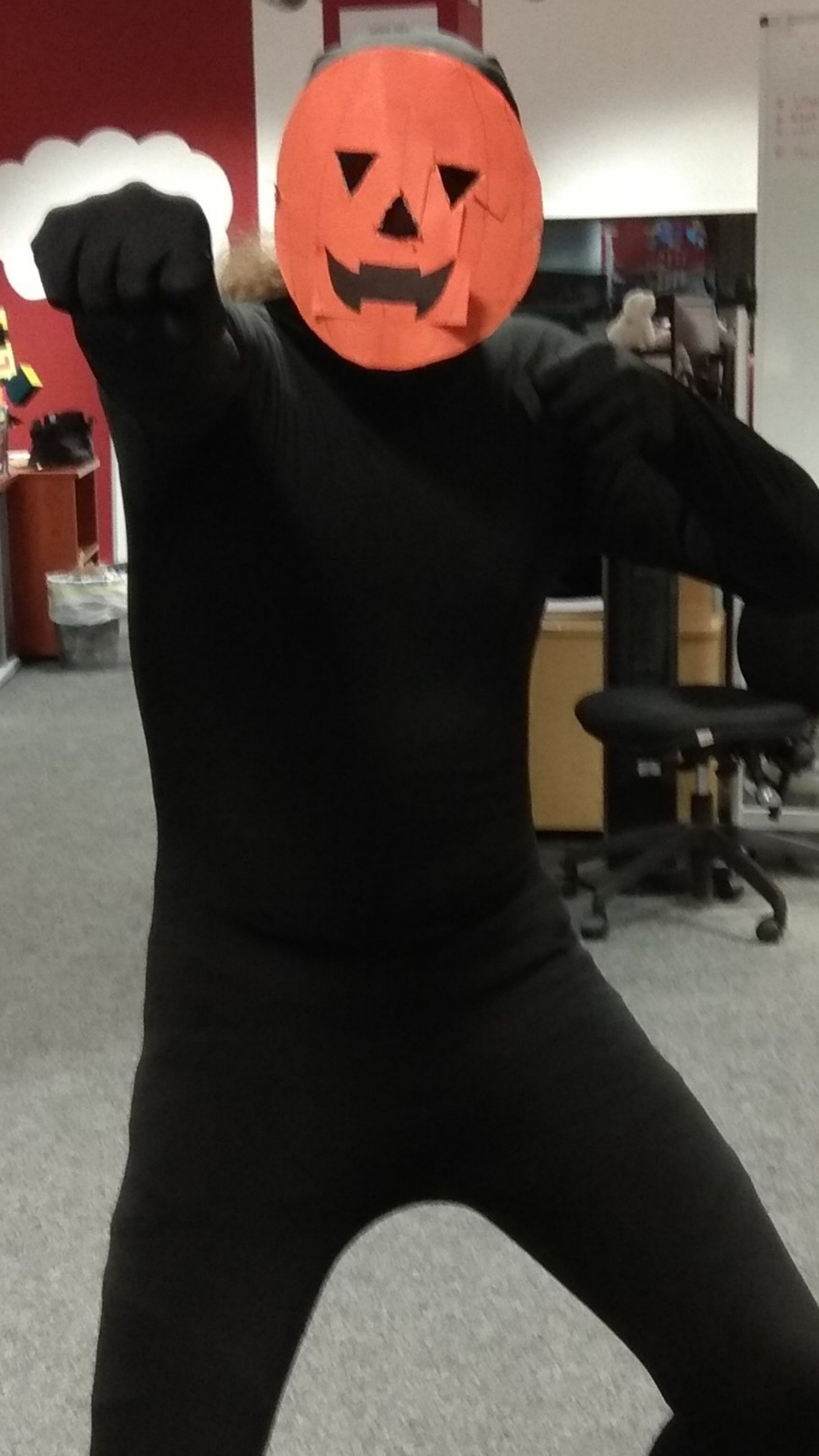 Spooky Scary Skeletons Pumpkin Man