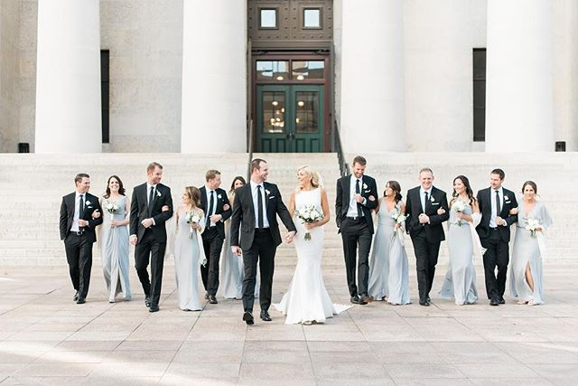 Jes and Ben are married!! Guys, this was such a good day. Sweetest bride and groom, amazing bridal party, beautiful details, and an incredible team to work with. My 2018 wedding season may be over, but I can promise the photo sharing has just begun! #meetthejenzens  Planning: @aisleandco  Florals: @ecofloradesign  Hair & Makeup: @thebridebar  Dress: @pronovias