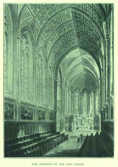 Illustration of 'The Interior of the New Chapel' sourced from All Hallows Missionary College Annual of 1896-7