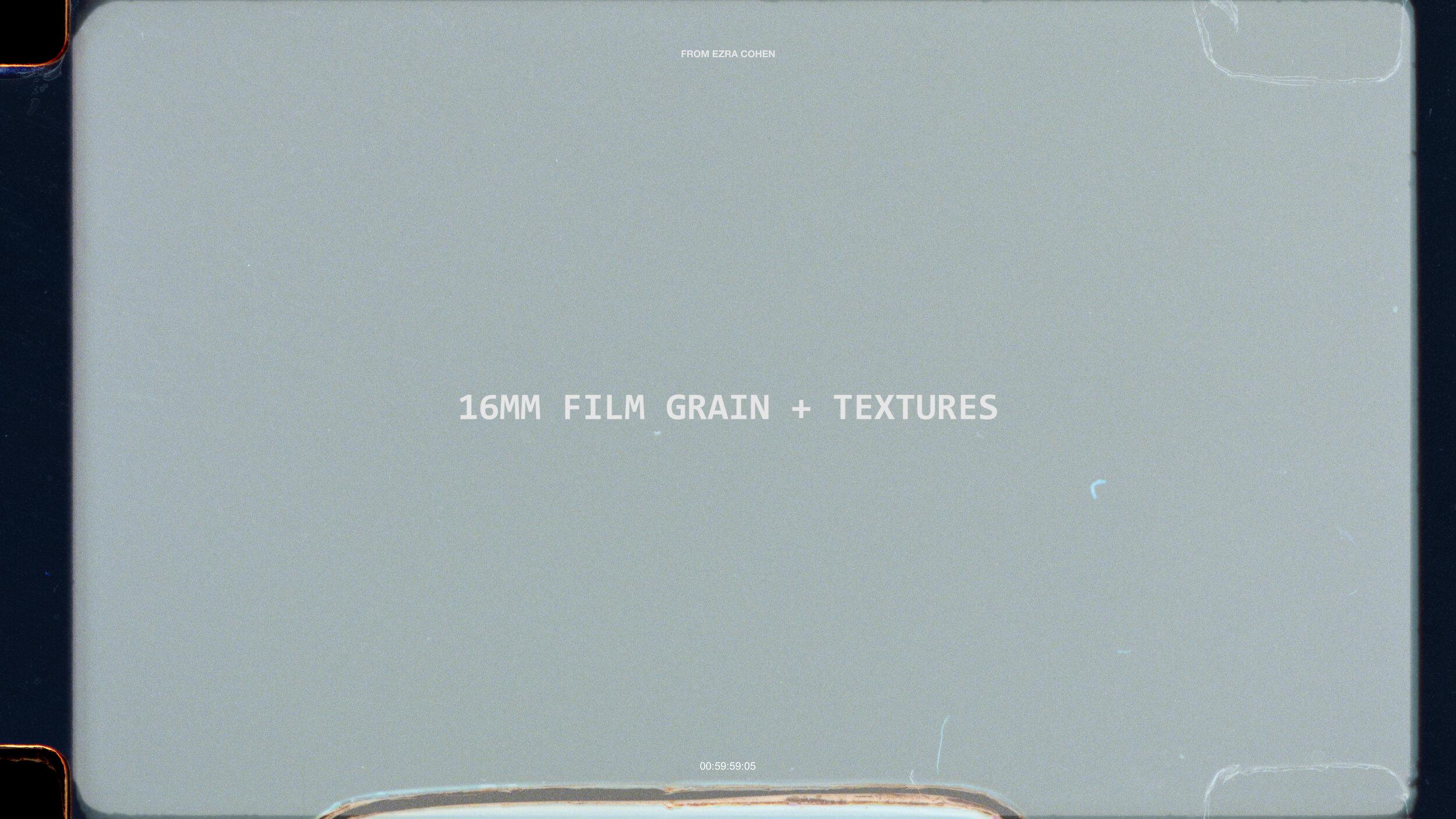 16MM FILM GRAIN   $39+