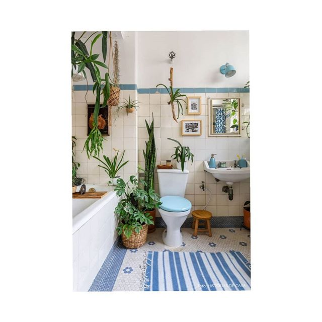 Pastel. . . . . . . . . . . . . . . . . . . . #bathroom #pastel #blue #vintage @urbanjungle #plants