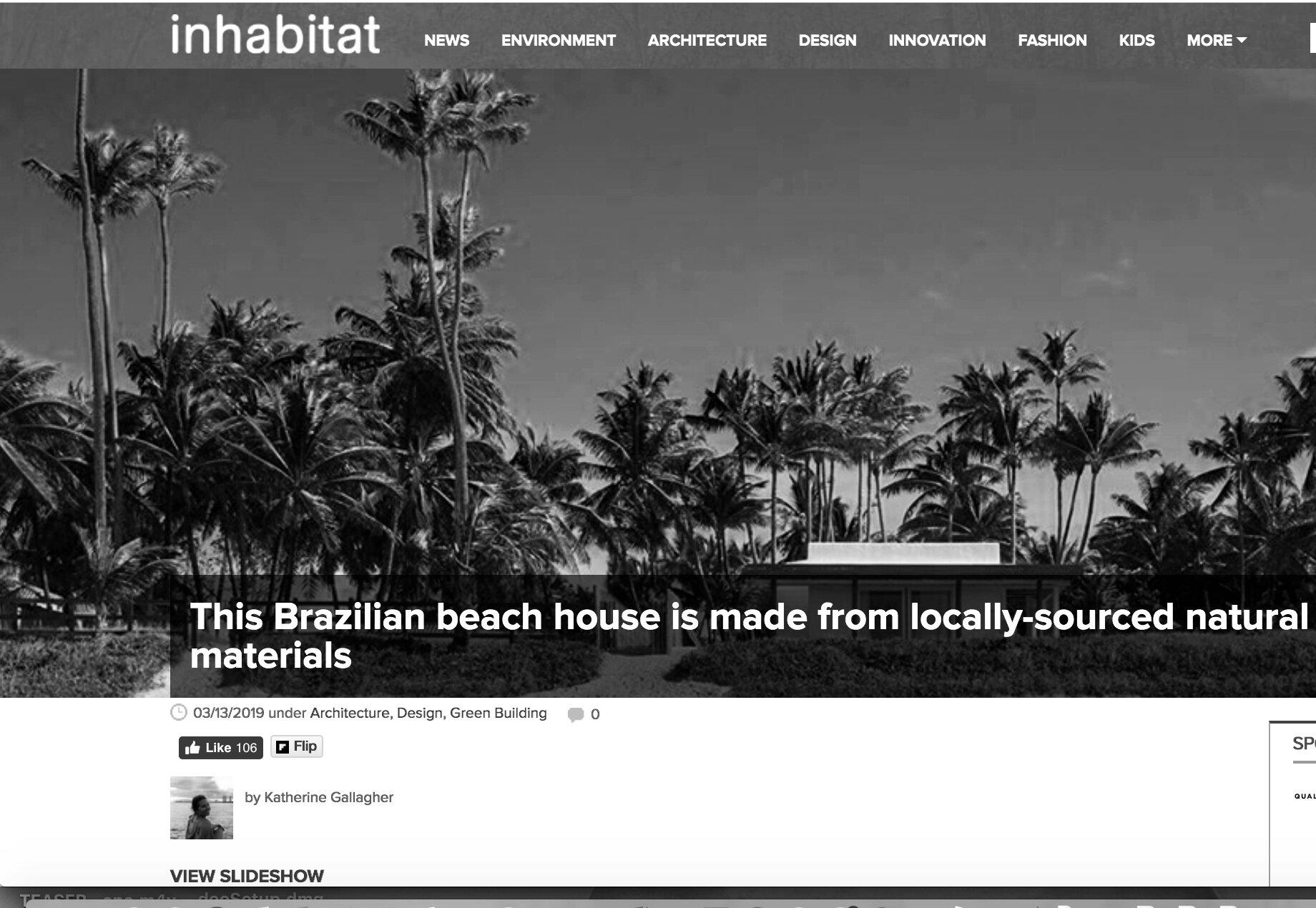 Inhabitat  - Projeto Cupe