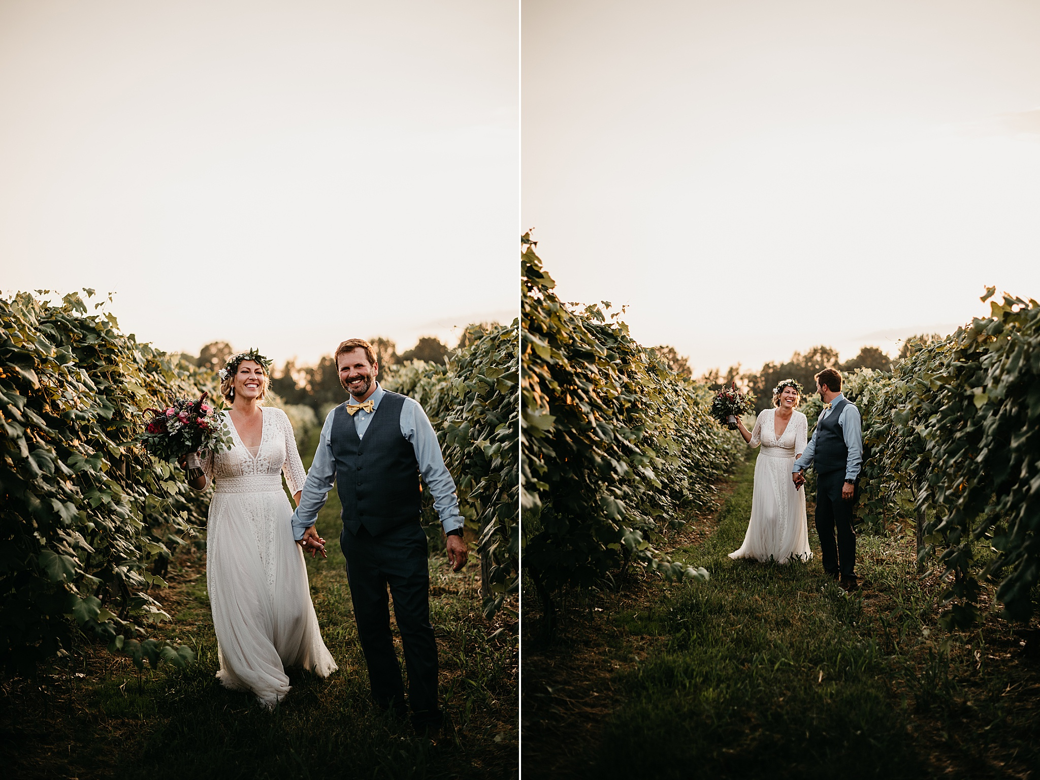 Hidden Vineyard Wedding Buchanan Michigan