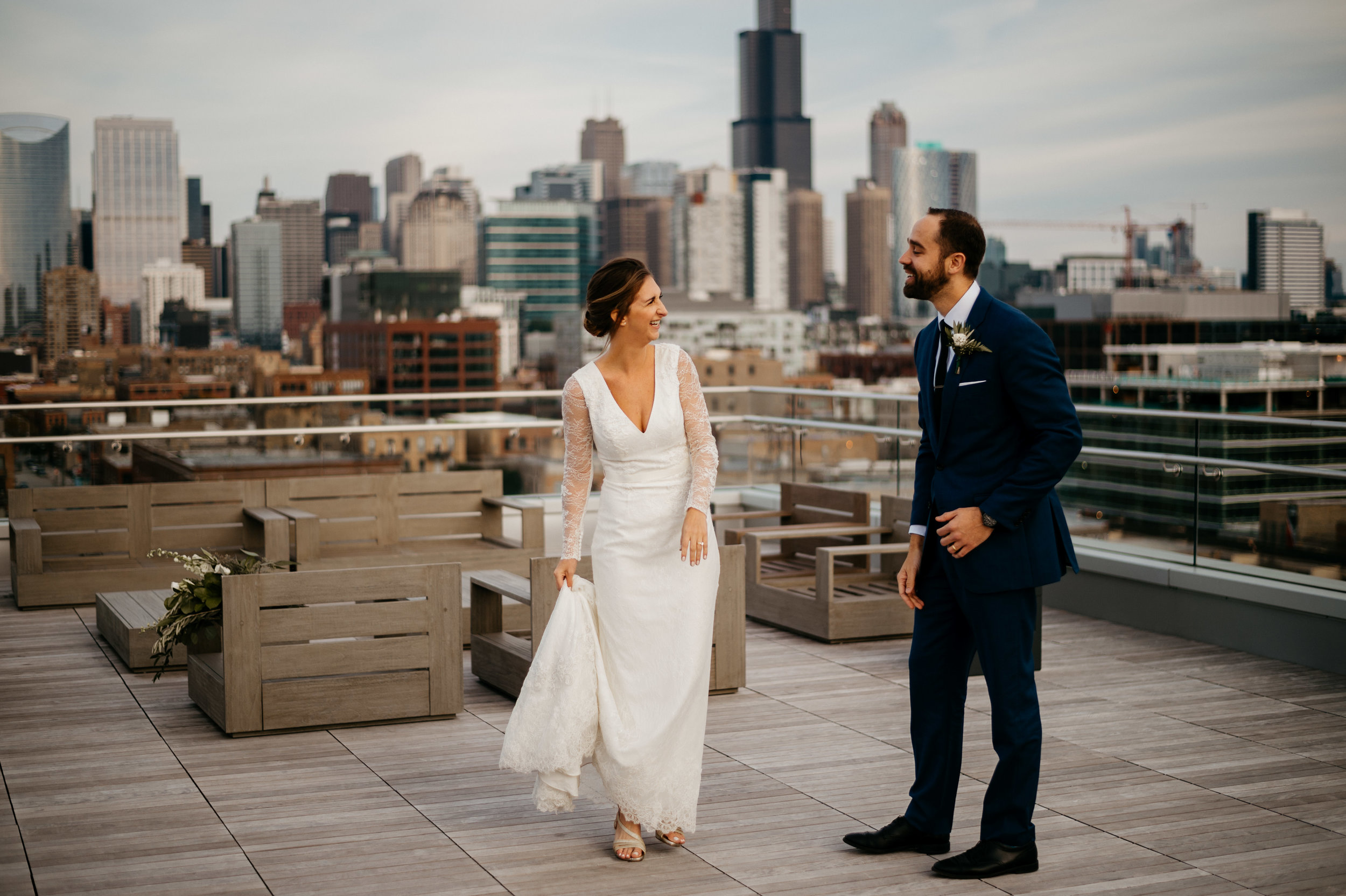 Loft on Lake Chicago Wedding | Chicago Wedding Photographer