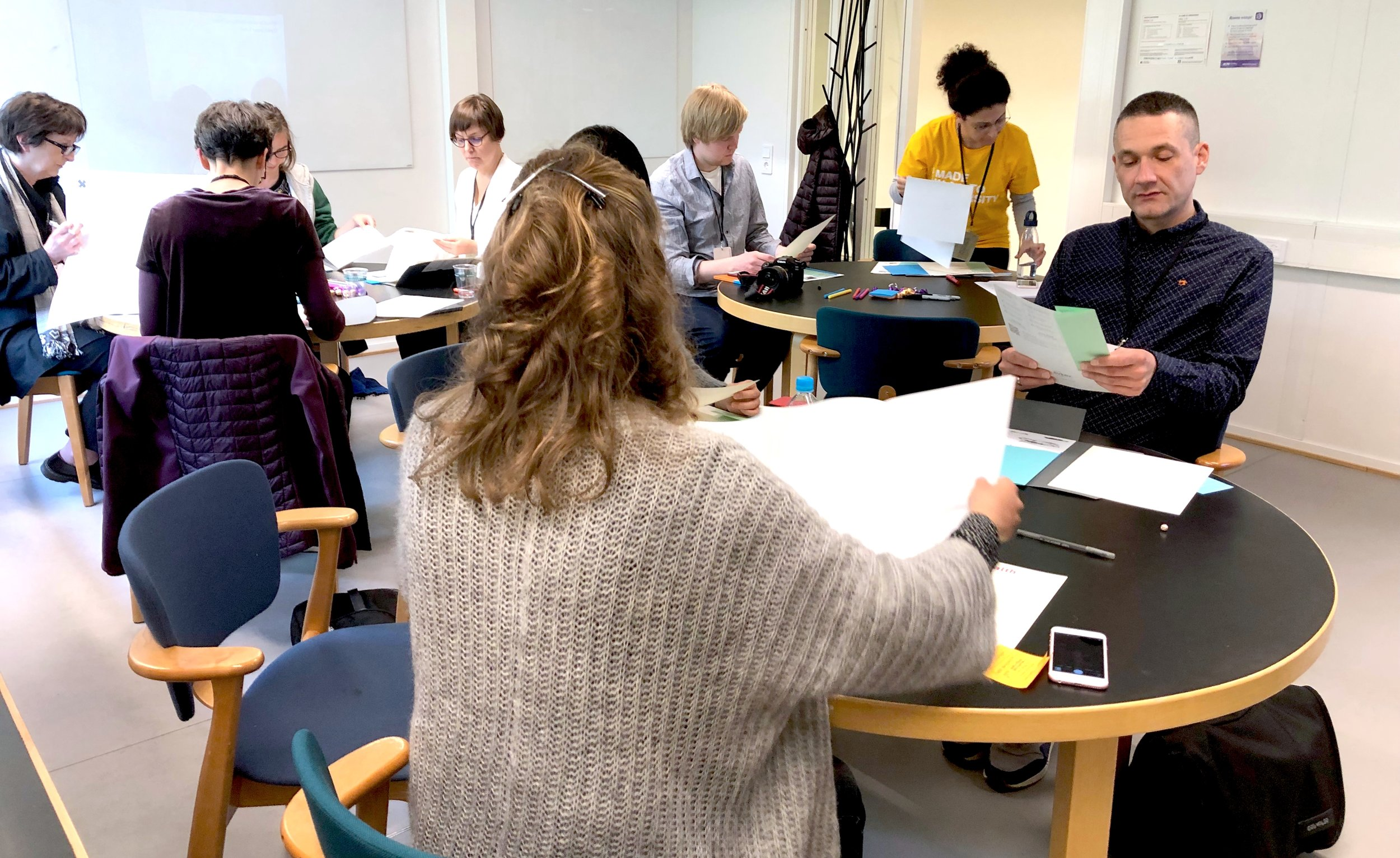 Participants join the workshop at Aalto University in Helsinki, Finland