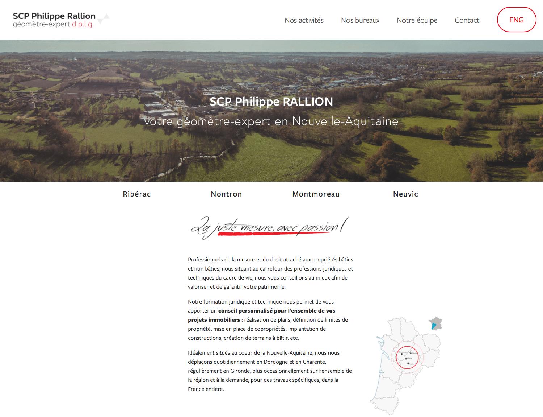 SCP Philippe RALLION - Création d'un site + blogTemplate utilisé : Bryant