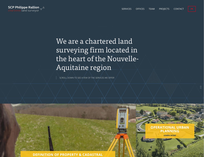 Landsurveyor Dordogne Charente - Création du site + traduction du contenuTemplate utilisé : Heights