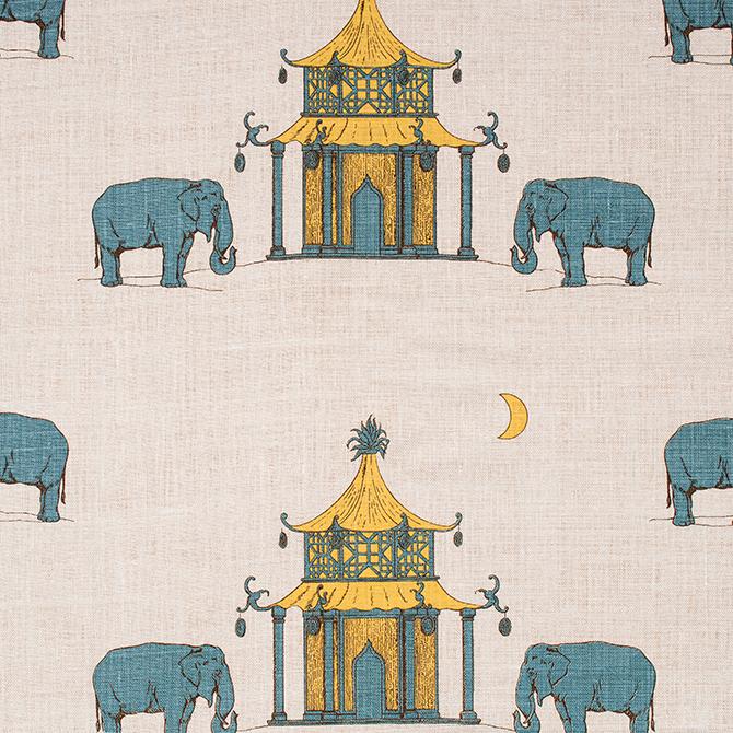 Fabric: Pagoda in color Saffron