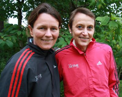 helle aanesen & grete waitz Aktiv against cancer co-founders