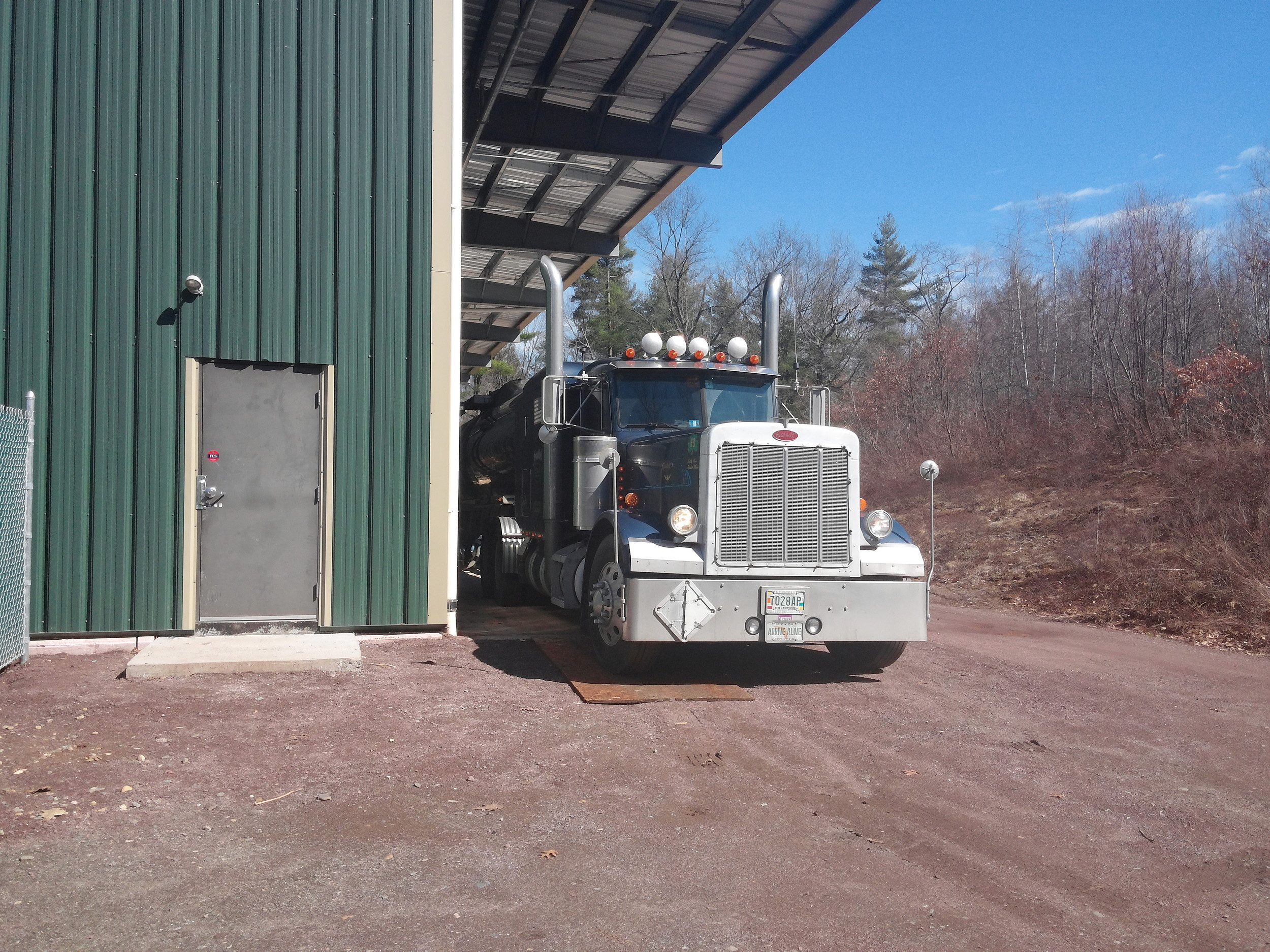 Northeast Biodiesel's first delivery of recycled vegetable oil.