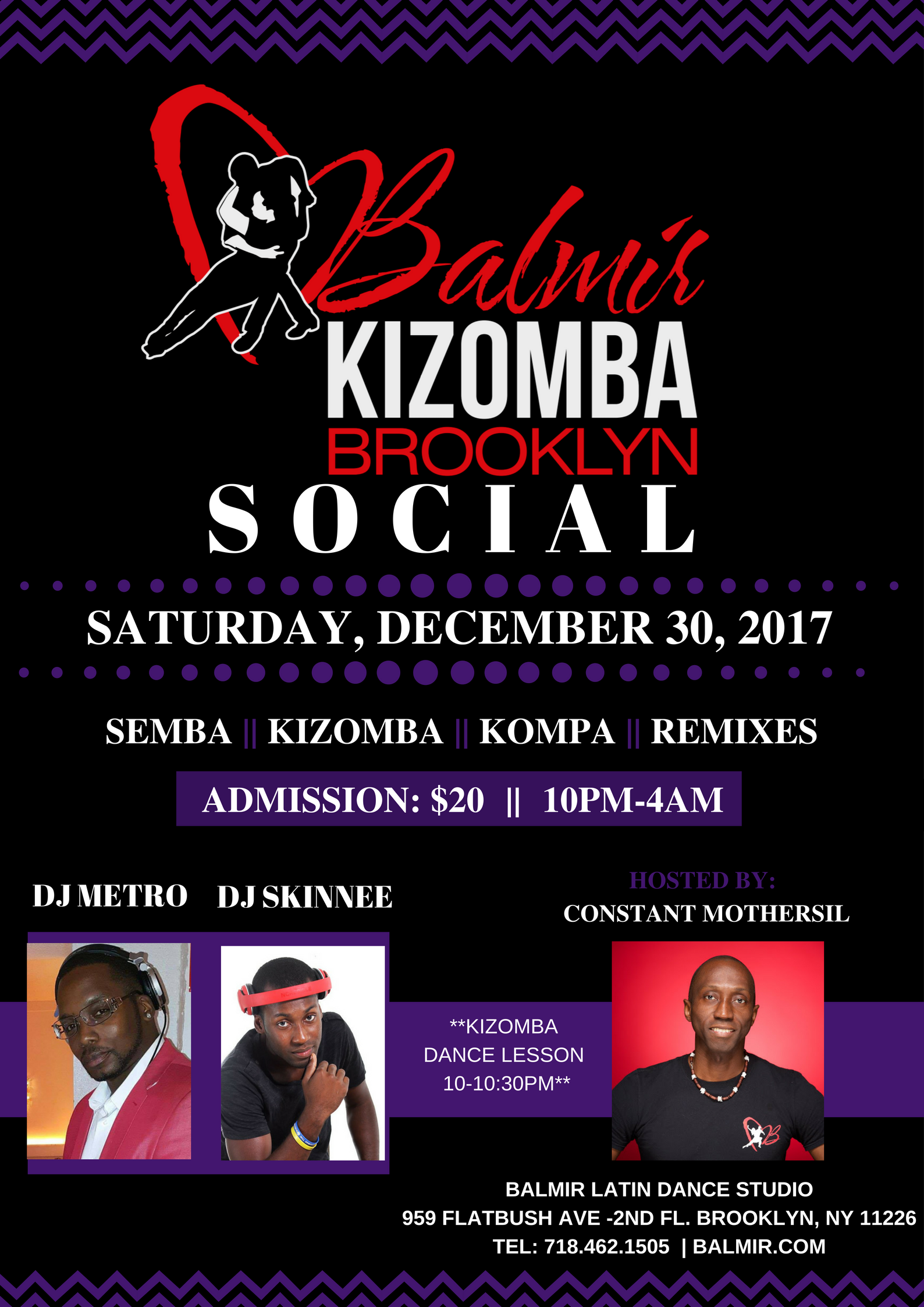 Kizomba Dance Party DEC 30 FLYER BALMIR