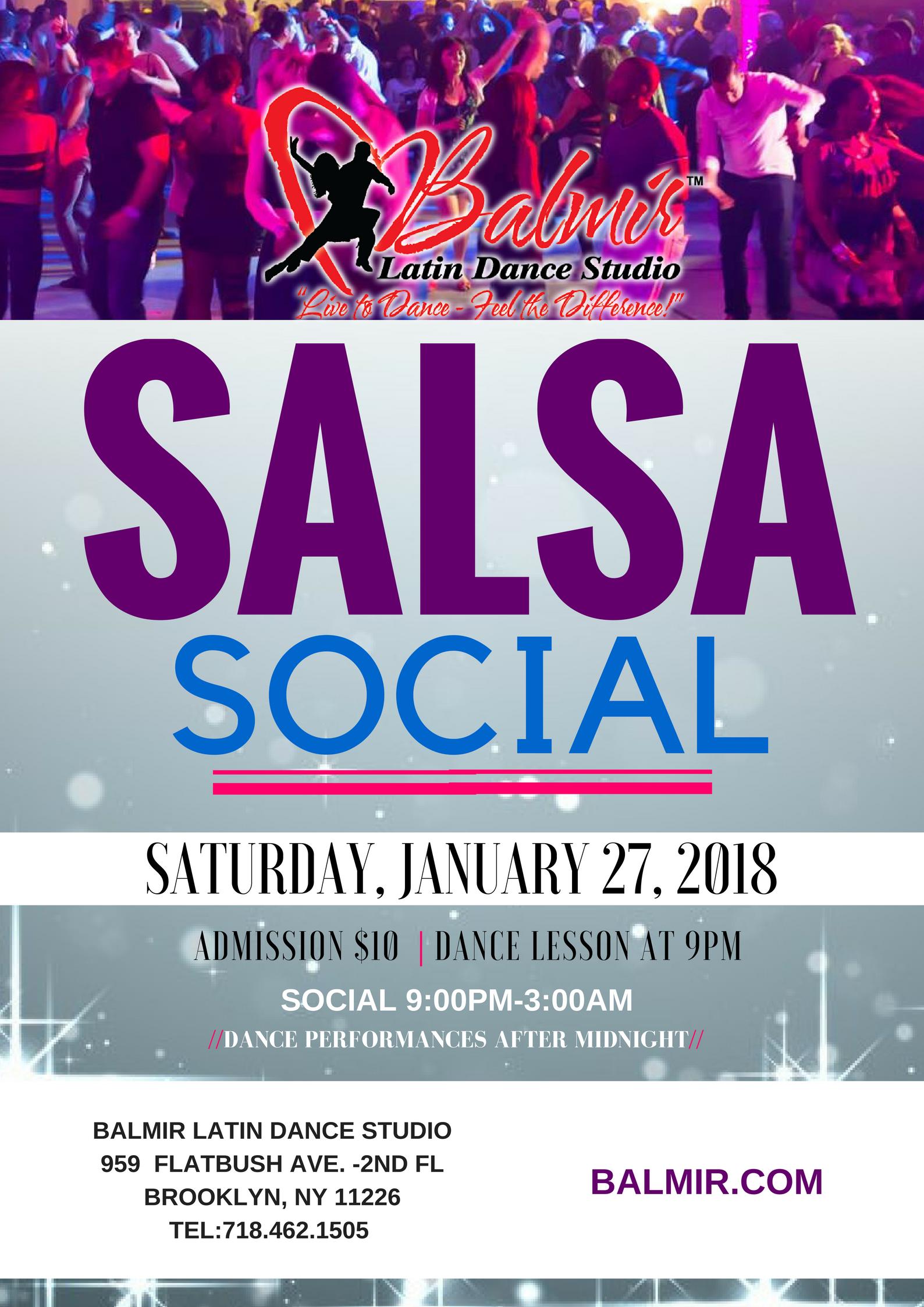 SALSA SOCIAL BROOKLYN NYC DANCE PARTY