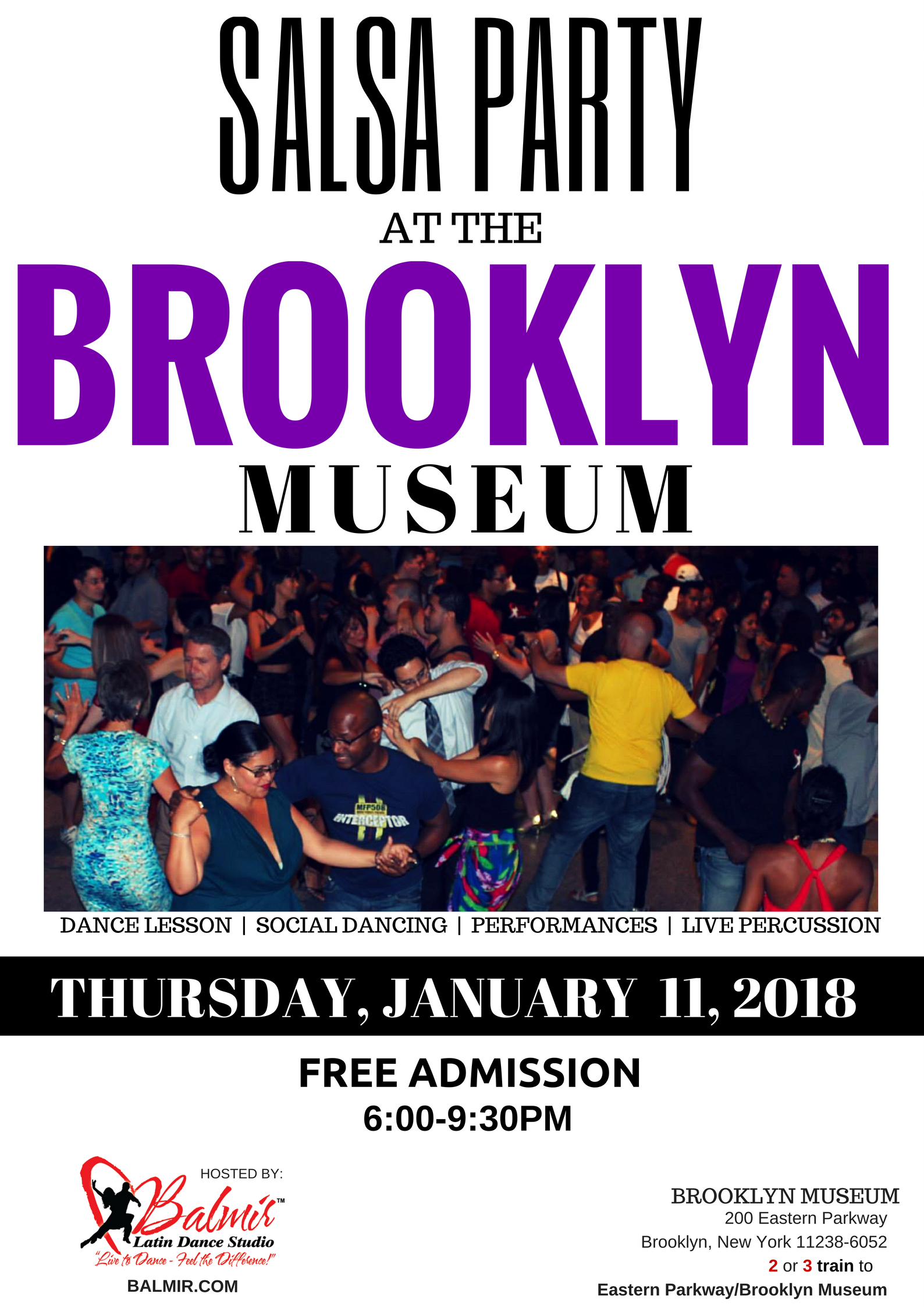 SALSA DANCE PARTY AT BROOKLYN MUSEUM BALMIR.COM JANUARY  2018