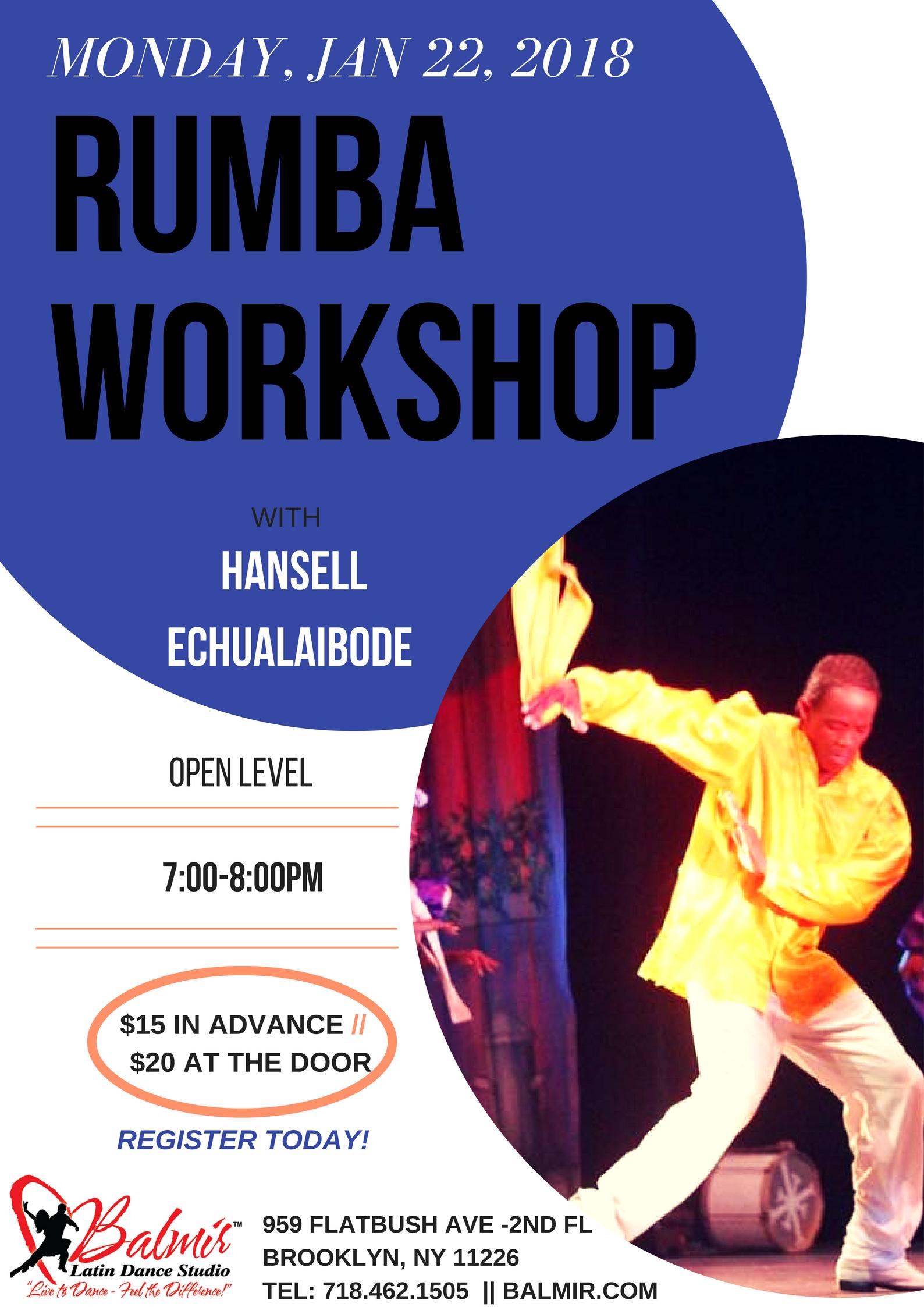 MONDAY, JAN 22, 2018 RUMBA WORKSHOP BALMIR LATIN DANCE STUDIO BROOKLYN NYC.png