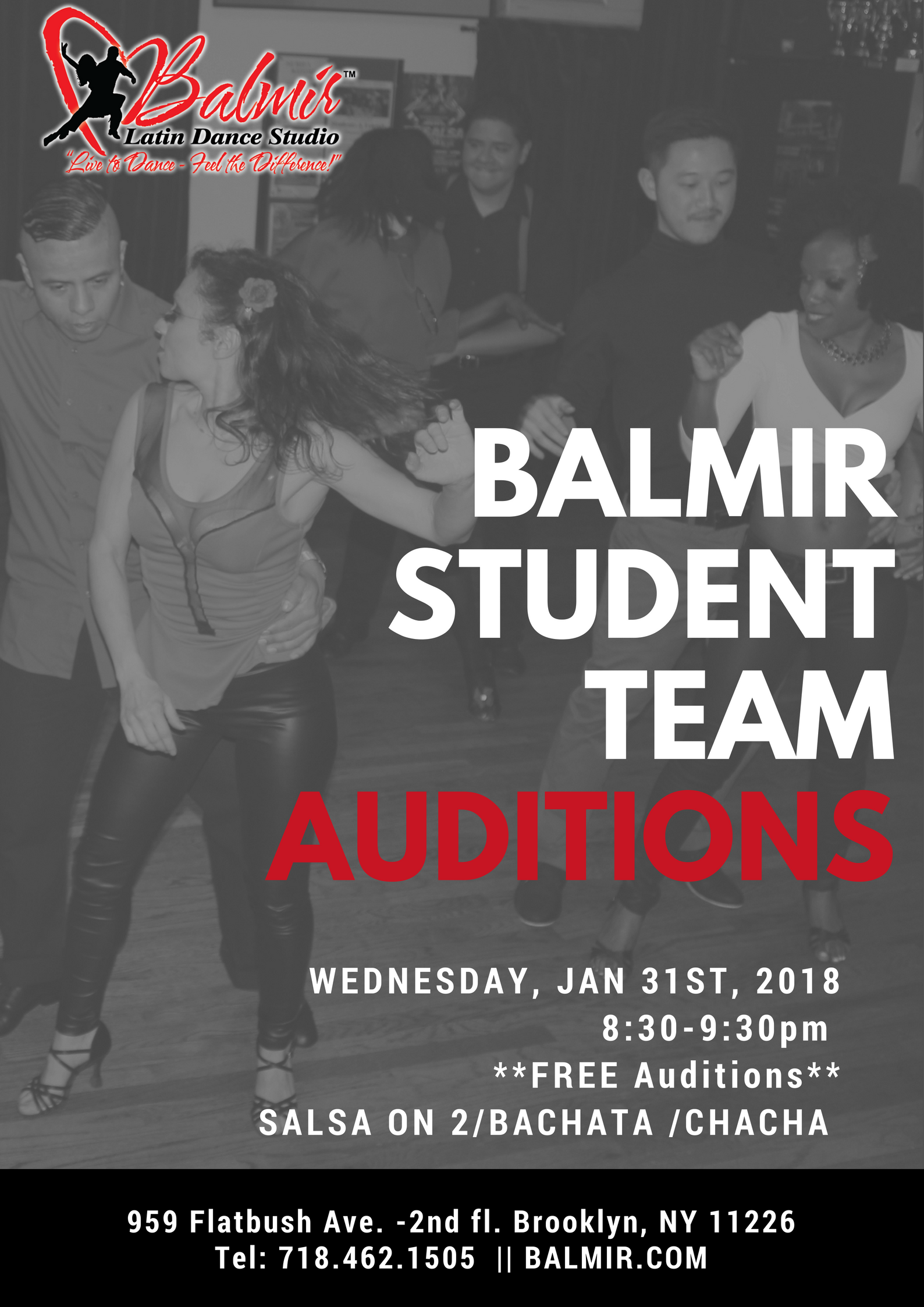 balmir student team auditions January 2018