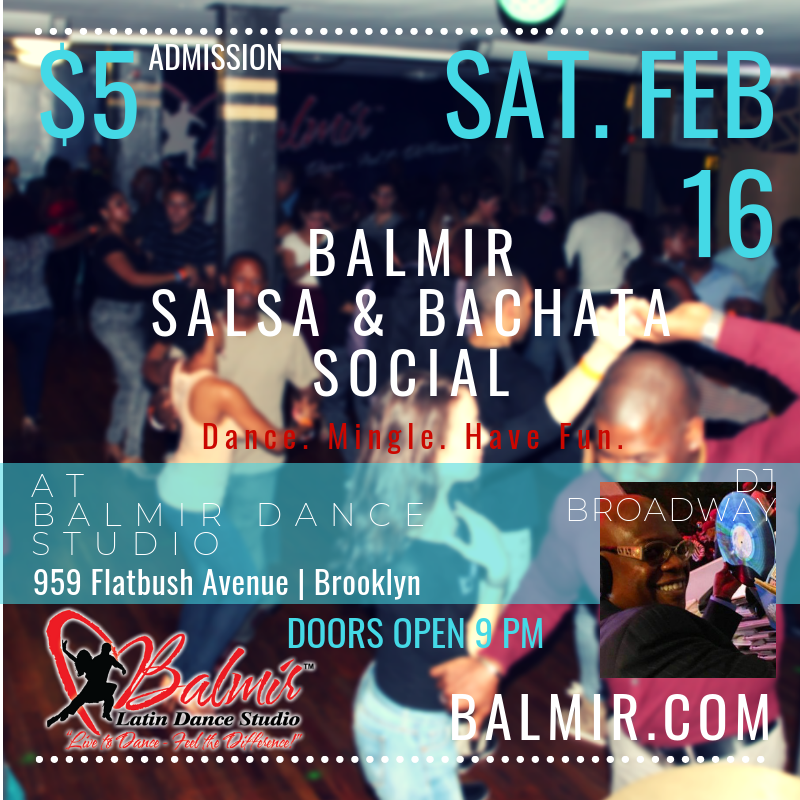 BALMIR SALSA & BACHATA SOCIAL February 16 2019 Brooklyn Dance events.png