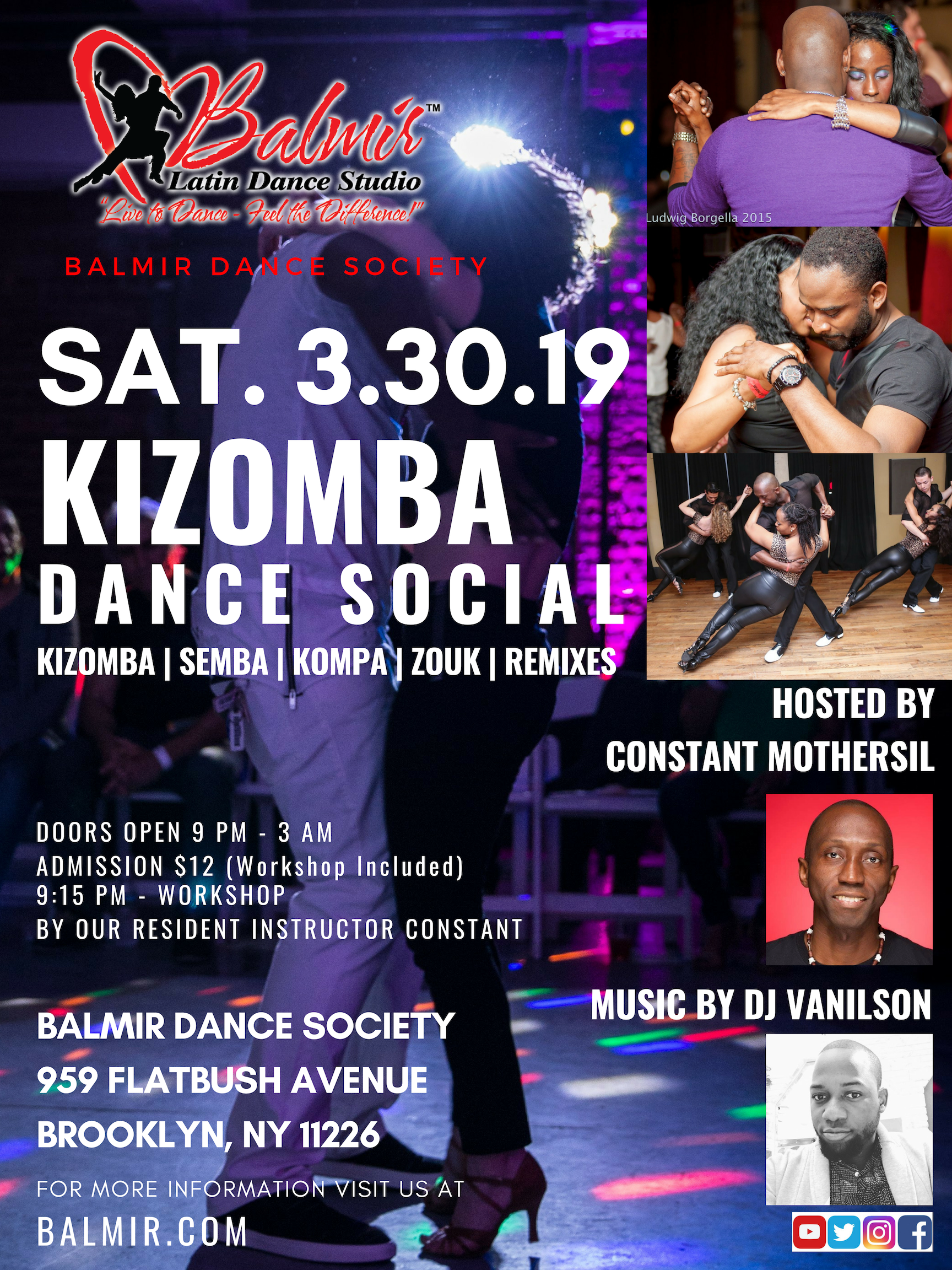 March 30 2019 KIZOMBA SOCIAL DANCE PARTY BROOKLYN NEW YORK CITY EVENTS FUN