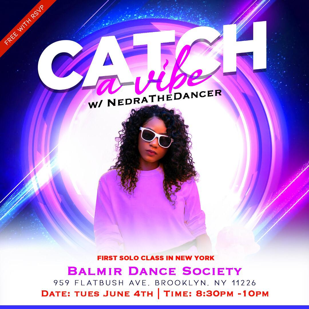 June 2 Tuesday Brooklyn Dance Class Afro Fusion NedraTheDancer Flatbush Balmir Dance Society Studio.JPG